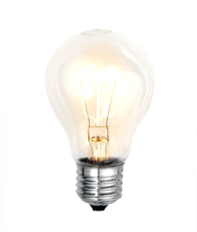 illuminated light bulb